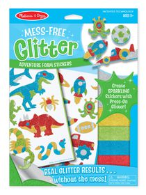 Melissa & Doug Adventure Foam Stickers - Mess Free Glitter