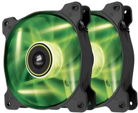 Corsair SP140 Air Series LED High Static Pressure 140mm Fan (Twin Pack) - Green