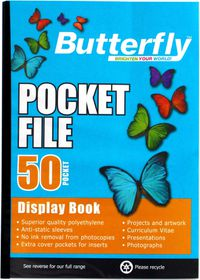 Butterfly Pocket File A4 - 50 Page