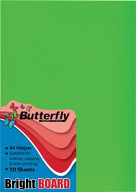 Butterfly A4 Bright Board 50s - Green