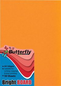 Butterfly A4 Bright Board 50s - Orange