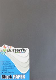 Butterfly A4 Bright Paper 100s - Black