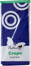 Butterfly Crepe Paper 1 Sheet - Dark Blue (C07)