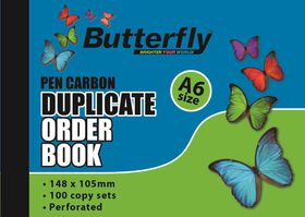 Butterfly A6 Duplicate Book - Order 200 Sheets