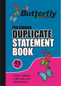 Butterfly A5 Duplicate Book - Statement 200 Sheets