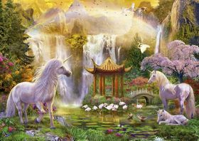 Educa Unicorn Valley Of The Waterfalls - 500 Piece