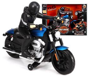 Maisto 1/8 R/C Harley-Davidson Motorcycle with Alkaline Batteries - Blue