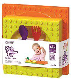 Placematix Kids - Dinner Set - Orange and Yellow