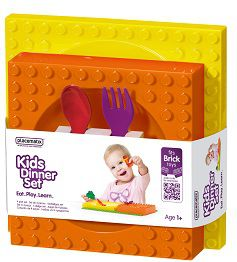 Placematix Kids - Dinner Set - Yellow and Orange