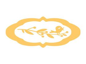 Couture Creations Everyday Essentials - 2 Tags & Bird Branch (92 x 52mm & 70 x 40mm & 63 x 20mm)