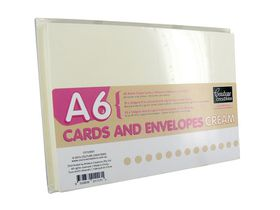 Couture Creations A6 Cream Cards & Envelopes (50 pack)