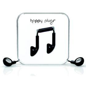 Happy Plugs Earbud + Mic & Remote - Black