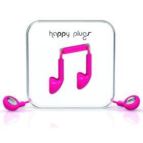 Happy Plugs Earbud + Mic & Remote - Cerise
