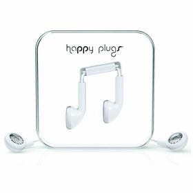 Happy Plugs Earbud + Mic & Remote - White