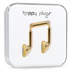 Happy Plugs Delux Earbud + Mic & Remote - Gold