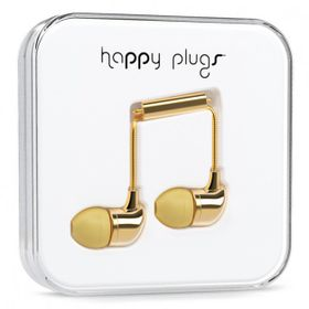 Happy Plugs Delux In-Ear + Mic & Remote - Gold