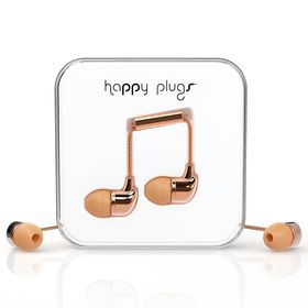Happy Plugs Delux In-Ear + Mic & Remote - Rose