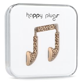 Happy Plugs Unik Earbud + Mic & Remote - Leopard