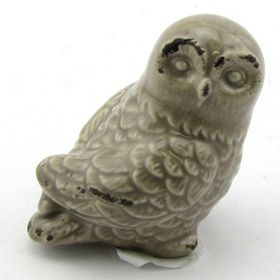Pamper Hamper - Ceramic Owl - Grey