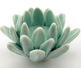 Pamper Hamper - Lotus Flower Candle Holder - Blue