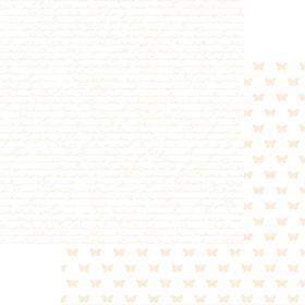 Lady Pattern Paper Basic Essentials Script - Antique White (10 Sheets)