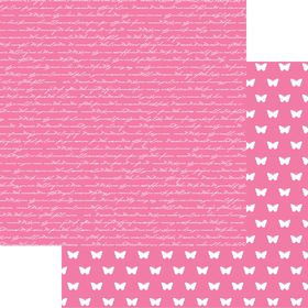 Lady Pattern Paper Basic Essentials Script - Pink Mary (10 Sheets)