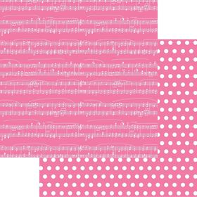 Lady Pattern Paper Basic Essentials Sheet Music - Pink Mary (10 Sheets)