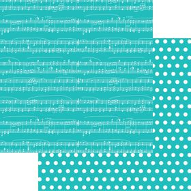 Lady Pattern Paper Basic Essentials Sheet Music - Intense Teal (10 Sheets)