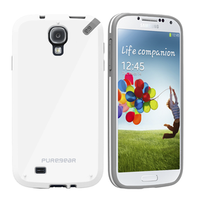 PureGear Slim Shell Case for Samsung S4 - White