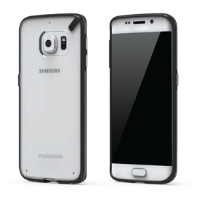 PureGear Slim Shell Case for Samsung S6 Edge - Clear/Black