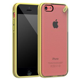 PureGear Slim Shell Case for iPhone 5C - Clear/Yellow