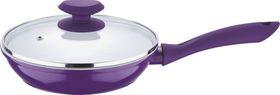 Wellberg - 26 cm Frypan With Lid - Purple