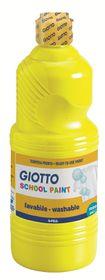 Giotto School Paint 1000ml - Primary Yellow