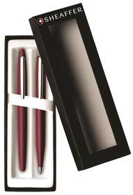 Sheaffer VFM 9406-9 Radiant Ruby with Nickel Plate Trim Ballpoint & Fountain Pen Set
