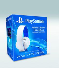 White Wireless Stereo Headset (PS4, PS3, PS VITA)