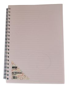 Meeco Creative Collection A4 80 Ruled Sheets Spiral Bound Notebook - White