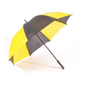 St Umbrellas - Golf Umbrella - Black & Yellow