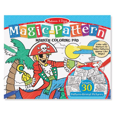 Melissa & Doug Blue Magic Pattern Colouring Pad | Buy Online in ...