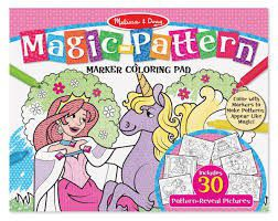 Melissa & Doug Pink Magic Pattern Colouring Pad