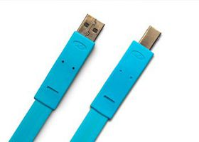 LaCie USB2.0 Flat Cable A male B male 1.2m Design by Item
