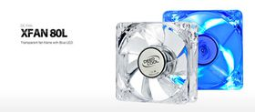 Deep Cool XFAN 80L Blue Led Case Fan
