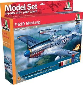 Italeri - 1/72 086 P-51D Mustang Model-set