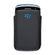 BlackBerry 9360 - Line Leather Pocket - Black and Sky Blue
