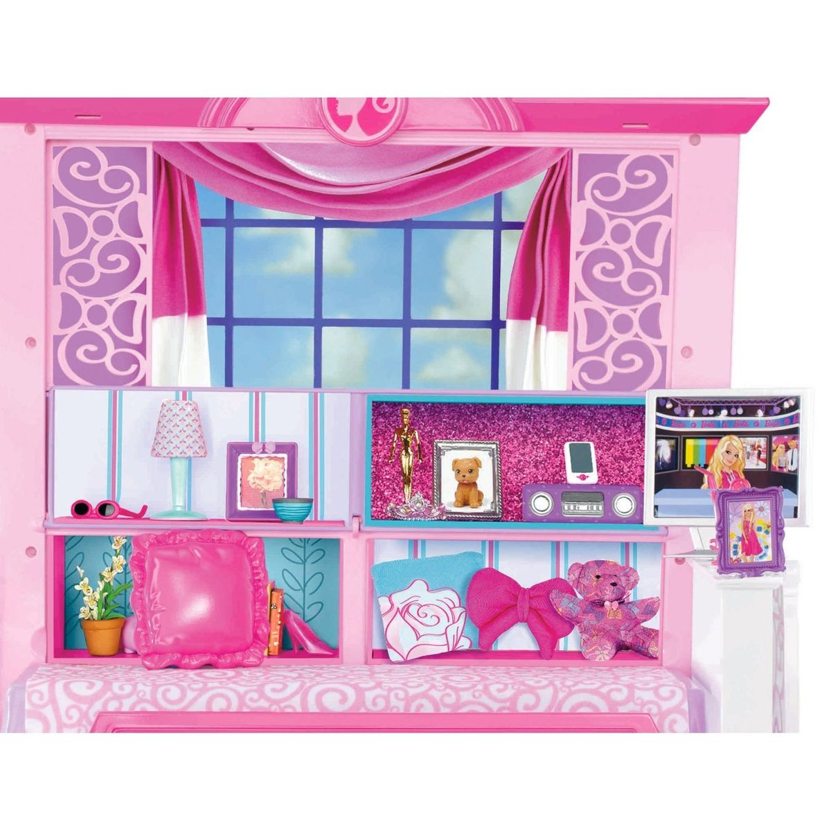 Barbie Glam Vacation Doll House Set - Pink