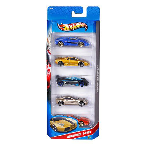 Hot Wheels 5 Car Gift Pack - World Race 5 | Buy Online in South ...