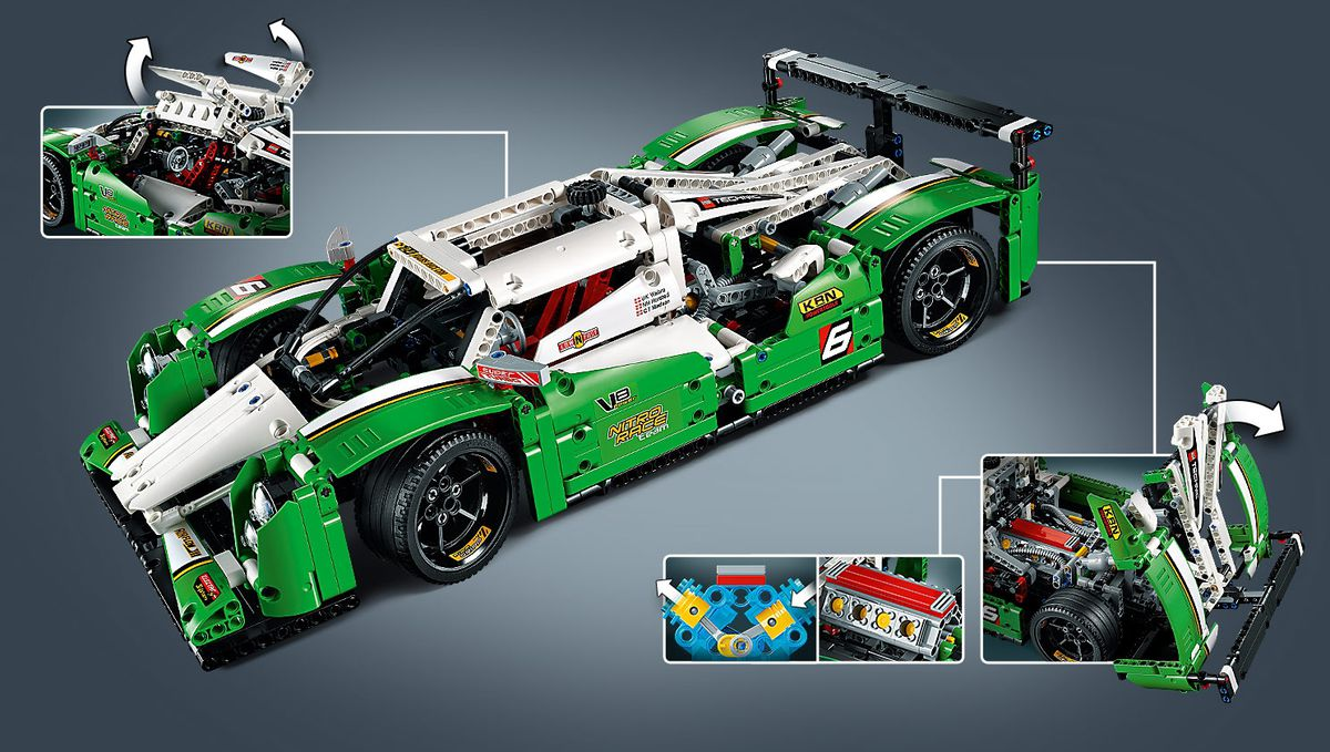 lego technic 24 hour racing car 2 in 1 42039 buy online in south africa. Black Bedroom Furniture Sets. Home Design Ideas