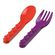 Placematix Kids - Cutlery Set - Purple and Red