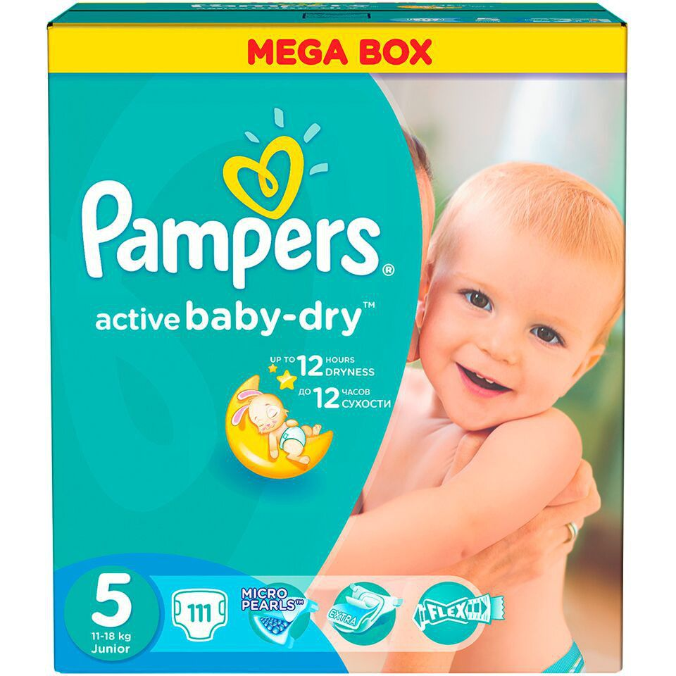 Подгузники Pampers Active Baby-Dry Midi 5-9кг 126шт 4015400737230