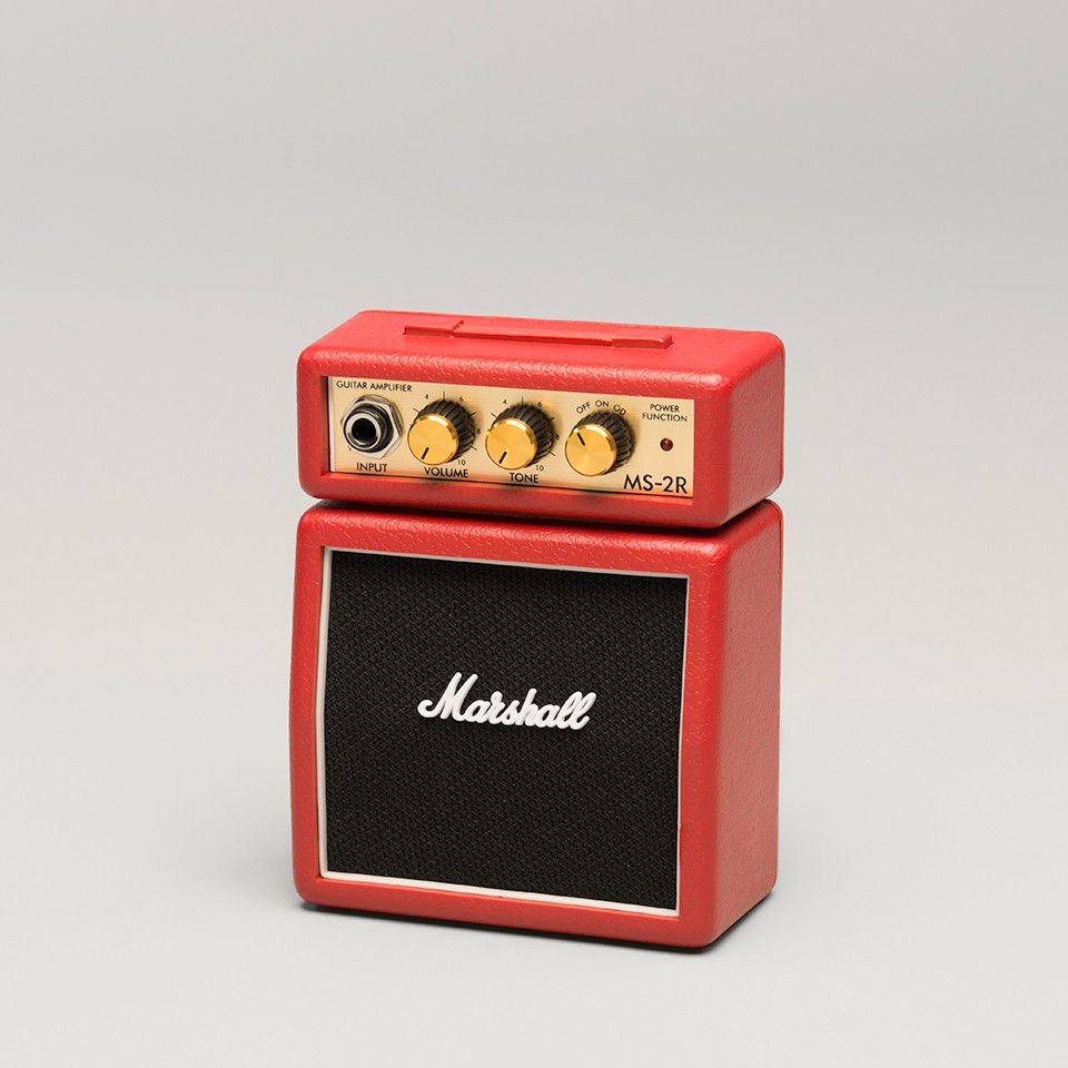 marshall ms2r micro amp series 1 watt portable electric guitar amplifier half stack red buy. Black Bedroom Furniture Sets. Home Design Ideas