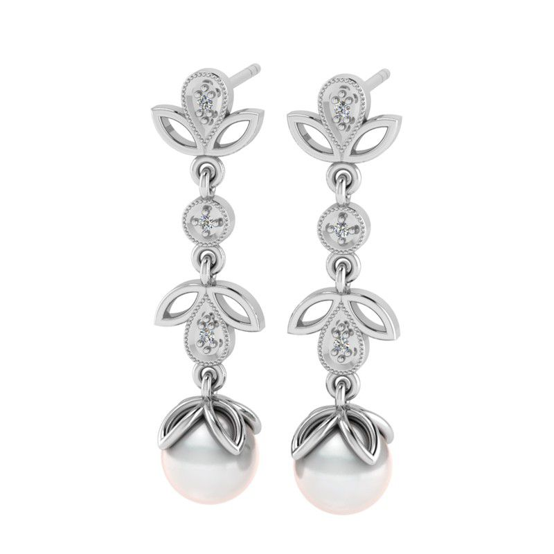 Why jewellery diamond and pearl chandelier earrings silver buy why jewellery diamond and pearl chandelier earrings silver mozeypictures Image collections